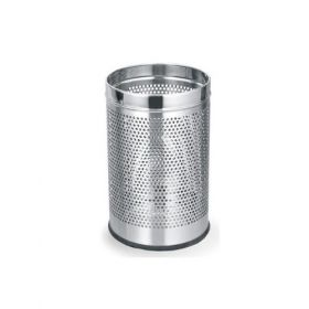 "Stainless Steel Perforated Dustbin- 8"" X 13"" - 1Pack"