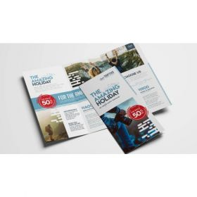A4 Small Trifold Brochures(10 Brochures)