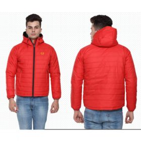 Arrow Men'S Quilted & Hooded Jacket - Red(S)