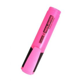 Camlin Highlighter Marker Pen, Pink - 7287136 (Pack Of 10)- 5 Packs(50 Pcs)