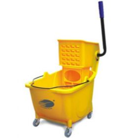 Charnock Single Bucket Mop Wringer Trolley Without Partition C118  - 1 Pc
