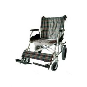 "Deluxe Transport Wheelchair 12"" Wheels"