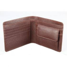 Elan Classic Lth Bifold Coin Pouch Wallet-Brown