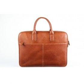 Elan Leather Business Bag-Tan