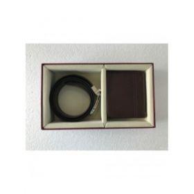 Two Piece Combo Set ( Wallet & Reversible Belt )-Brown