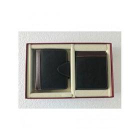 Two Piece Combo Set ( Men'S Wallet And Ladies Waller )-Black