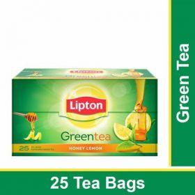 Lipton Green Tea Bags - Honey Lemon, 25 Pcs