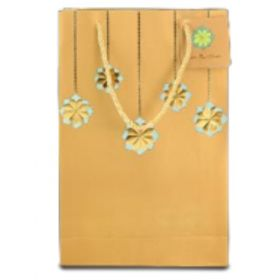 Designer Antique Gold Paper Bag ( Pb 1702 )