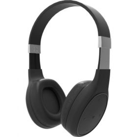 Portronics Por-762 Muffs Plus Wireless Bluetooth Headphone With Aux Port ( Black) Bluetooth Headset With Mic