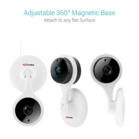Portronics Seesaw Mini Wifi Hd Cctv Camera Vr (White)