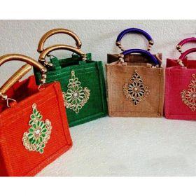 Jute Bags With Silk Handles