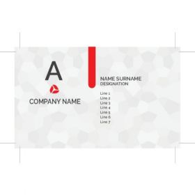 Single Sided Visiting Card 1(100 Cards)