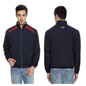 U.S. Polo Assn. Men'S Windcheater Jacket - Navy With Red(Xl)