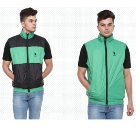 U.S. Polo Assn. Reversible Sleeveless Jacket - Mint Green And Black(Xxl)