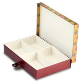 Antique Gold Rectangular 600 - 1000 Gms Box (4 Parts)
