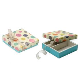 Beige / Turquoise Foldable 150 - 250 Gms Box (2 Parts)