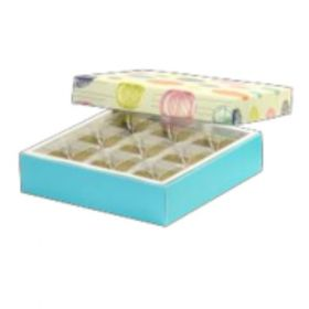 Beige / Turquoise Foldable 150 - 250 Gms Box (9 Parts)