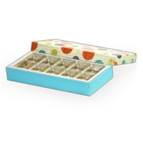 Beige / Turquoise Foldable 210 - 350 Gms Box (10 Parts)