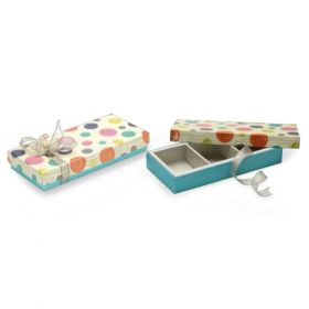 Beige / Turquoise Foldable 210 - 350 Gms Box (3 Parts)