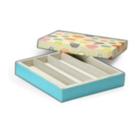 Beige / Turquoise Foldable 300 - 500 Gms Box (4 Lines)