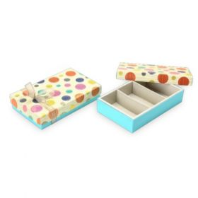Beige / Turquoise Foldable 400 - 650 Gms Box (3 Parts)