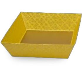 Tatva Gift Packing Yellow Medium Square Tray