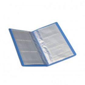 Sps Business Card Holder 120 Cards Blue Color File - (20 Pcs)