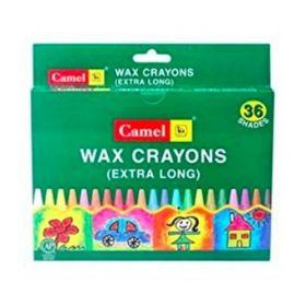 Camel 4522520 Extra Large Wax Crayon-Assorted 36 Pcs/Pack