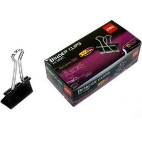Deli Binder Clip 32Mm (Black) Box