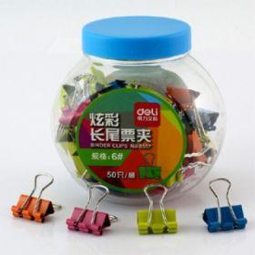 Deli Binder Clip(Assorted Color) 12 Clips/Tub