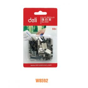Deli Paper Clipper(Silver)W8592