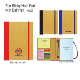 Eco Sticky Note Pad With Pen (H-807)