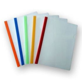 Milky Polypropylene Strip Folder, Size A4 - 10 Pcs