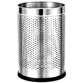 """Stainless Steel  Perforated Dustbin- 10"""" X 14""""  - 1 Pc"""