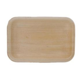 "Areca Leaf Rectangular Disposable Plates 4x4.5"" - Pack of 100"