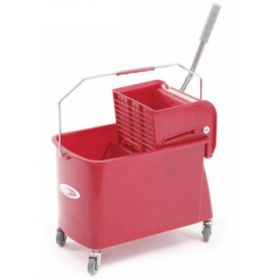 Charnock Single Bucket Mop Wringer Trolley With Partition C 118A   - 1 Pc