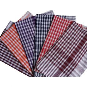 """Cloth Duster Checked Red Color, 16"""" X 24""""-10 Pcs"""