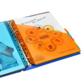 10 Document Pockets Dividers with Insertable Tabs, DD110
