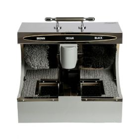 Automatic Shoe Polish / Shiner Machine - Silver-  With Sole Cleaner