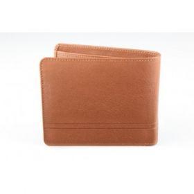 Elan Classic Lth Bifold Coin Pouch Wallet-Tan