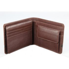 Elan Classic Lth Coin Pouch Flap Wallet-Brown