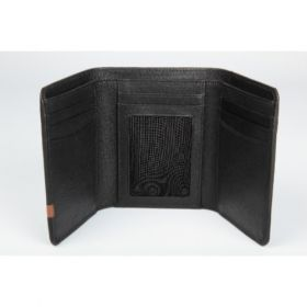 Elan Classic Lth Trifold Wallet- Black