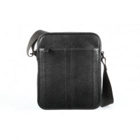 Elan Leather Shoulder Bag (Small)-Black