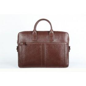 Elan Leather Slim Laptop Bag-Brown