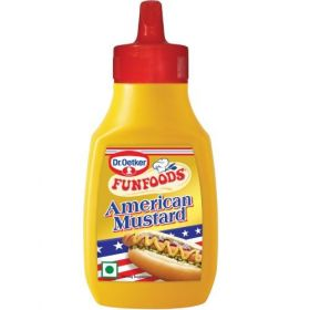FunFoods Mustard American, 260 gm Bottle (Pack of 12)
