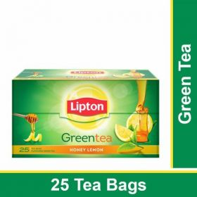 Lipton Green Tea Bags - Honey Lemon, 25 Pcs