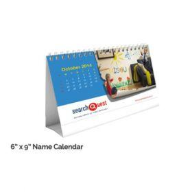 """Name Calendar 6"""" X 9""""(50 Pcs)"""