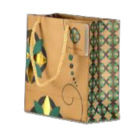 Designer Antique Gold Paper Bag ( Pb 1701 )