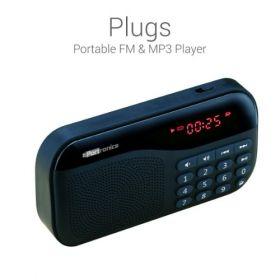 Portronics Por-143 Plugs Portable Speaker With Fm & Microsd Card Support - Black