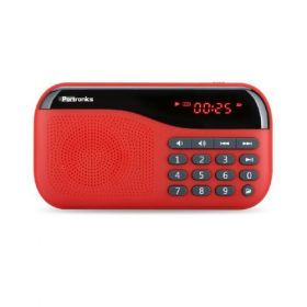 Portronics Por-143 Plugs Portable Speaker With Fm & Microsd Card Support - Red